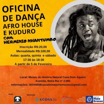 Oficina de Dança : Afro House e  Kuduro com Hermínio Nhantumbo - por Gilda Portella
