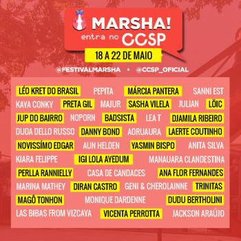 Festival MARSHA ate 22 de Maio por Gilda Portella