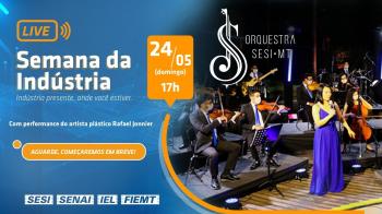 Concerto da Orquestra Sesi MT e Happening de Rafaell Jonnier
