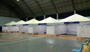Chapada dos Guimarães - Prefeitura de Chapada abre >Complexo de Atendimento à Covid> em ginásio