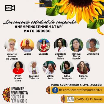 Carta Aberta LEVANTE FEMINISTA CONTRA O FEMINICÍDIO – MULHERES DE MATO GROSSO