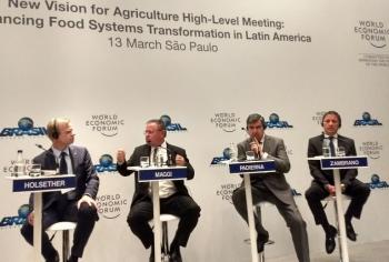 Ministro participa do Fórum Econômico Mundial América Latina