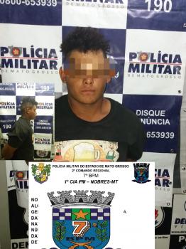 Homem é preso após roubar lojas ao lado da feira municipal