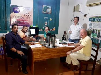 """Reunião com representantes e empresários  do """"Circuito das Águas"""" em Rosário Oeste MT"""