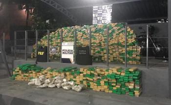 PM apreendeu 7 toneladas de droga em 2018, quase 200% a mais que 2017