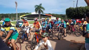 Passeios ciclísticos movimentam a cidade durante as festividade de aniversário