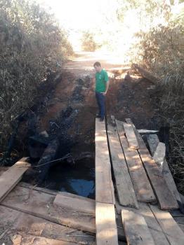 Prefeitura denuncia incêndio criminoso na Ponte do Rio Salobra no Marzagão