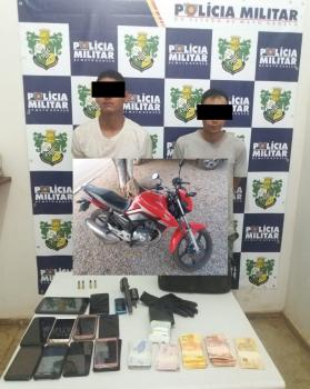 Duas pessoas foram presas por roubo à Distribuidora Marajá