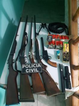 Polícia apreende  armas e  munições  em Rosário Oeste