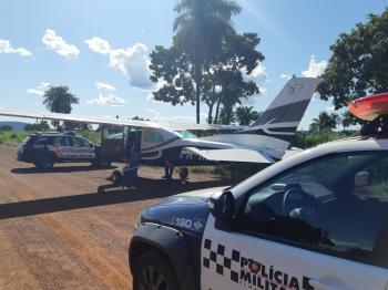 Piloto pousa avião em pista errada em Rosário Oeste e mobiliza policia