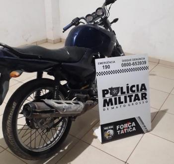 Suspeito de furtos de motocicletas é detido em flagrante em Nova Mutum