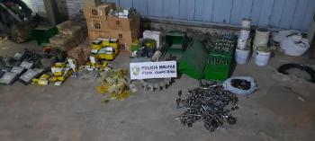 PM desarticula quadrilha que receptava peças agrícolas furtadas de fazendas