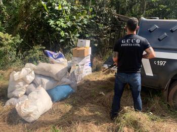 Polícia Civil localiza mais R$ 150 mil em defensivos agrícolas em região de mata em Diamantino