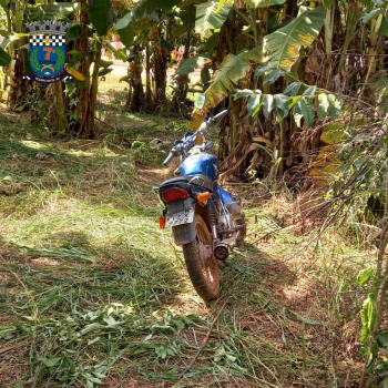 PM localiza moto furtada em Rosário Oeste