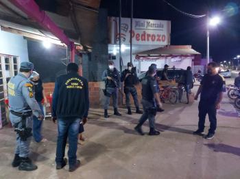 Operação conjunta  dispersa  aglomerações em Nobres;veja fotos