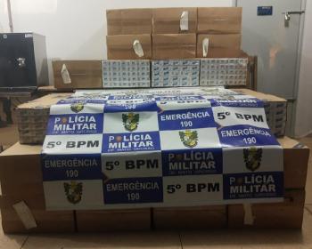 Dois homens são presos com mais de mil maços de cigarro contrabandeados do Paraguai