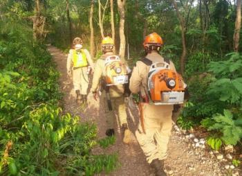 Com auxílio da chuva, incêndio de grandes proporções no Morro Santo Antônio é extinto
