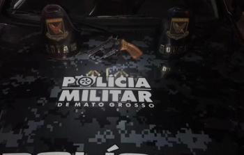 Jovens são detidos depois de atirarem na rua em Cuiabá