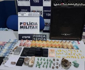 PM intercepta quadrilha que traficava drogas dentro de bar