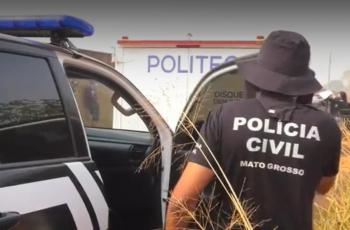 Polícia Civil prende um dos executores das mortes de policial militar e do filho dele, em Cuiabá