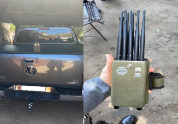 PM recupera caminhonete e apreende placas e bloqueador de sinal em Várzea Grande