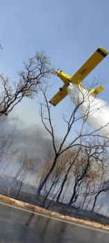 Incêndio em Chapada dos Guimarães (MT) já dura 5 dias e destruiu 4,6 mil hectares