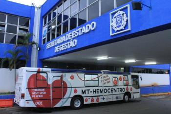 Ônibus do Hemocentro retorna ao Centro Político nesta quinta-feira