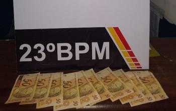 Dois são presos com 500 reais em notas falsas (Confresa)