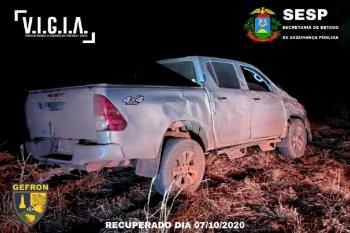 Gefron recupera veículo, apreende dinheiro roubado e munições nos últimos dois dias
