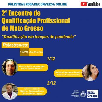 Abertas as inscrições para o 2° Encontro de Qualificação Profissional de Mato Grosso