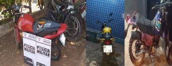 PM recupera motocicletas e prende suspeitos por receptação
