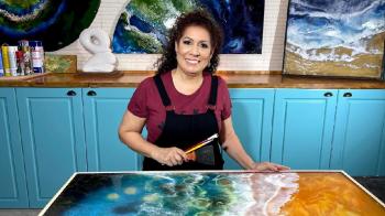 Regina Maslem realiza exposição Rios de Águas Vivas