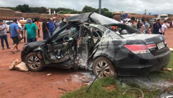 Advogado que bateu carro em poste no Nortão é transferido de avião para Cuiabá