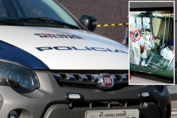 Vídeo mostra mulher armada em roubo à Martinello em Cuiabá