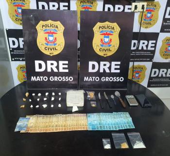 Polícia Civil prende traficante e fecha ponto de venda de cocaína no bairro Boa Esperança