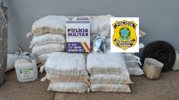 PM prende suspeitos com meia tonelada de defensivos agrícolas e R$ 13 mil em Sinop