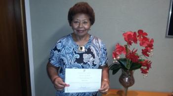 Delegada Miedir recebe prêmio Ruth Marques de destaque a defesa dos direitos das mulheres
