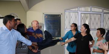 Inauguração do  Lar dos Idosos de Nobres: Máxima de Campos Falcão