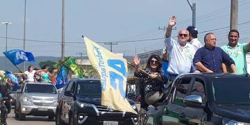 Carreata de Pedro Taques mobiliza centenas de apoiadores em Nobres