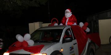 Chegada do Papai Noel abre programação de Natal  em Nobres