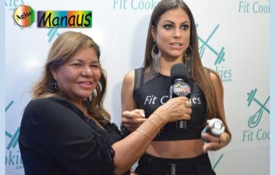 Programa Agite Manaus na Cobertura da Inauguração Loja Fit Cookis - Presença da Baianinha do Pânico