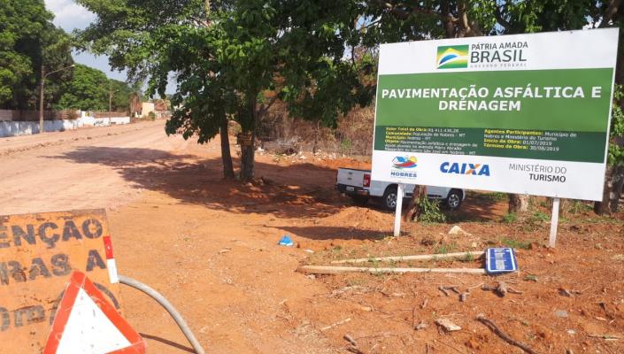 Empresa abandona obra  pavimentação asfáltica da Avenida Mário Abraão Nassarden; prefeitura concluirá projeto