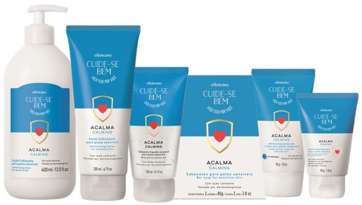 Cuide-se Bem Acalma, nova linha do Boticário, é desenvolvida especialmente para peles sensíveis