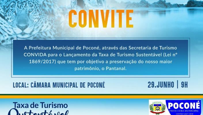 Prefeitura de Poconé lança Taxa de Turismo Sustentável na sexta