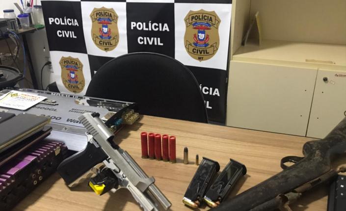 Armas e munições são apreendidas em investigação de furto a comércio de Confresa