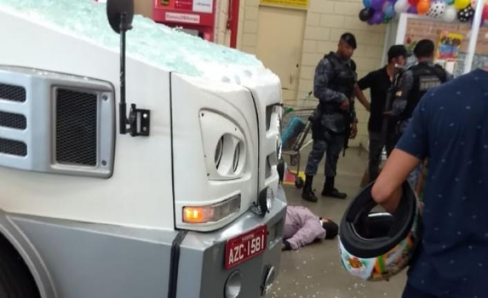 Força-tarefa monitorava criminosos que tentaram roubar malotes de carro-forte no Atacadão