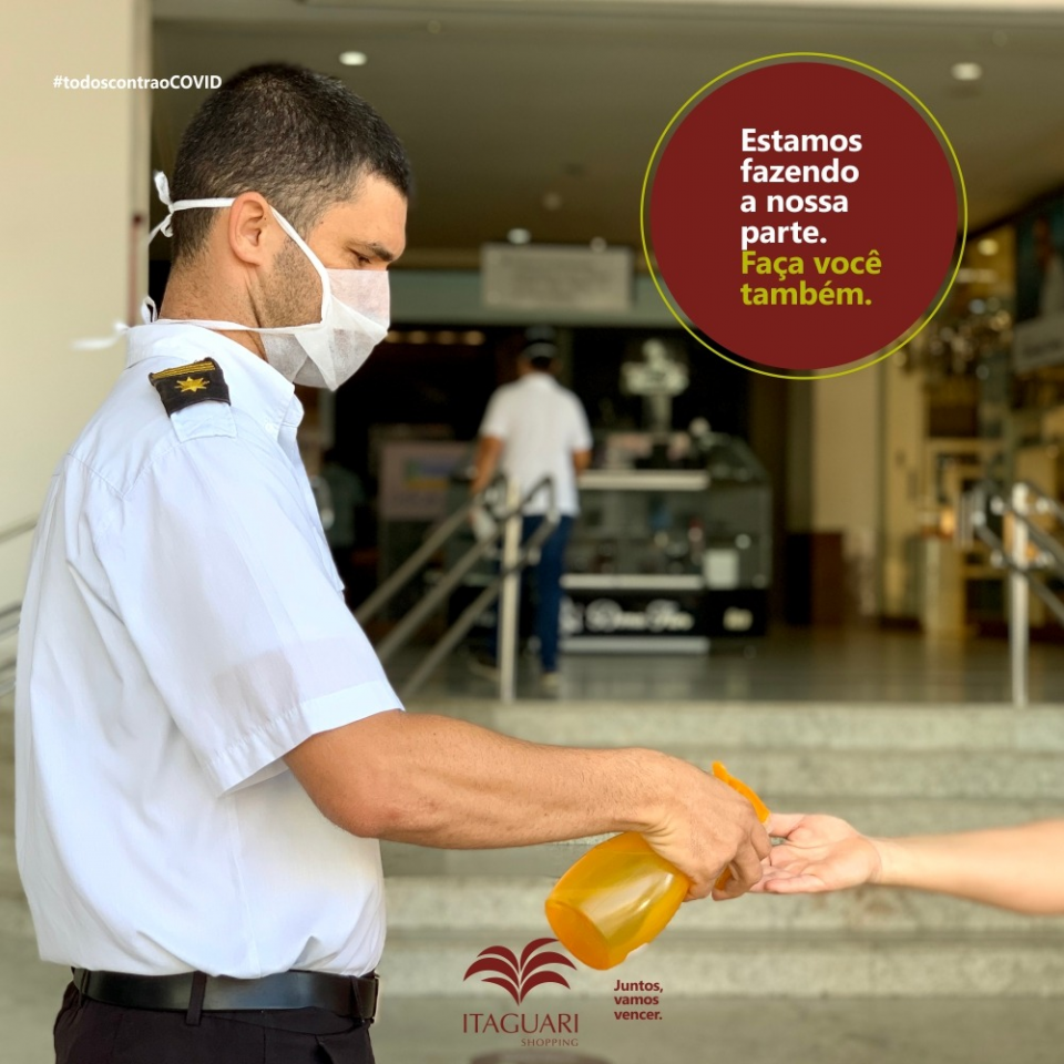 Shopping Itaguari adota medidas preventivas contra Covid-19 e disponibiliza ponto de atendimento para esclarecer sobre auxílio emergencial