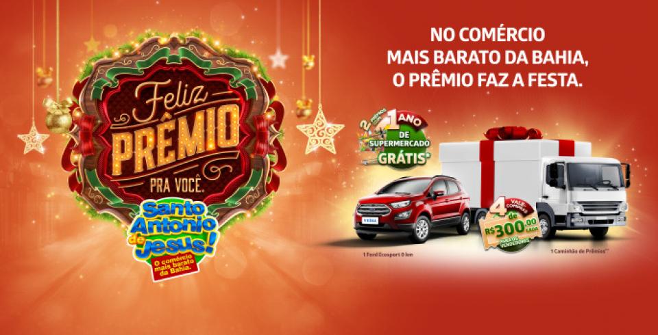 FELIZ PRÊMIO PRA VOCÊ: começou a maior Campanha Natalina da Bahia!