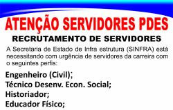 Recrutamento de Servidores