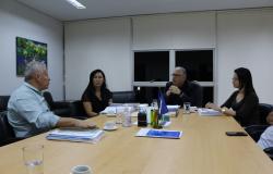 Diretoria do Sindes apresenta pré-projeto de construção da creche para equipe da Secretaria de Gestão